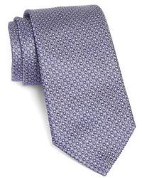 Corbata de seda con estampado geométrico en violeta de BOSS