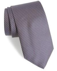Corbata de seda con estampado geométrico marrón de Eton