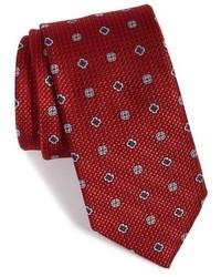 Corbata de seda con estampado geométrico roja de John W. Nordstrom