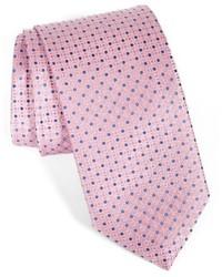 Corbata de seda con estampado geométrico rosada de Canali