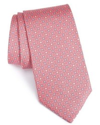 Corbata de seda de estrellas rosada de Salvatore Ferragamo