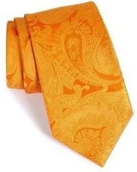 Corbata de seda de paisley dorada de Nordstrom