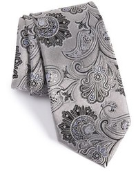 Corbata de seda de paisley plateada de Nordstrom
