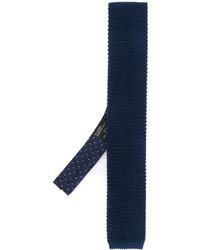 Corbata de seda de punto azul marino de Etro