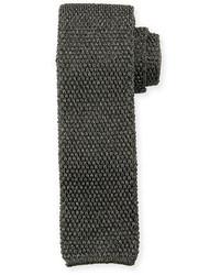 Corbata de seda de punto en gris oscuro de Tom Ford