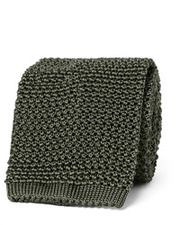 Corbata de seda de punto verde oscuro de Tom Ford