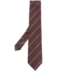 Corbata de Seda de Rayas Horizontales Burdeos de Tom Ford
