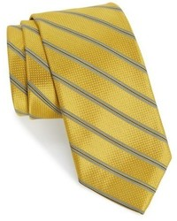 Corbata de seda de rayas horizontales dorada de Robert Talbott
