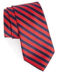 Corbata de seda de rayas horizontales roja de Nordstrom