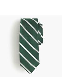 Corbata de seda de rayas horizontales verde oscuro de J.Crew