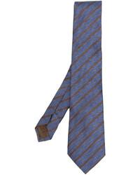 Corbata de seda de rayas verticales azul de Church's
