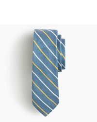 Corbata de seda de rayas verticales azul de J.Crew