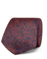Corbata de seda de rayas verticales roja de Richard James