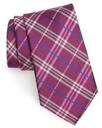 Corbata de seda de tartán rosa de Nordstrom
