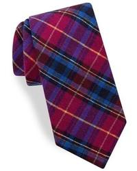 Corbata de seda de tartán rosa de Ted Baker
