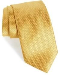 Corbata de seda dorada de David Donahue