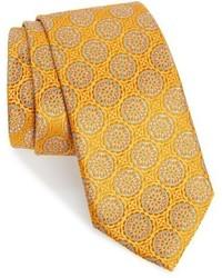 Corbata de seda dorada de Robert Talbott