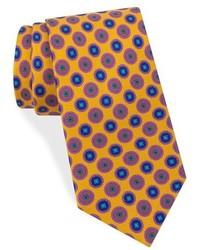 Corbata de seda dorada de Ted Baker