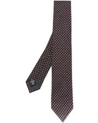 Corbata de seda en marrón oscuro de Ermenegildo Zegna