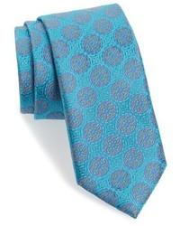 Corbata de seda en turquesa de Robert Talbott