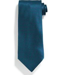 Corbata de seda en verde azulado de Stefano Ricci