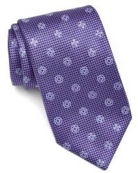 Corbata de seda en violeta de Canali