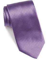 Corbata de seda en violeta de David Donahue