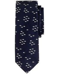 Corbata de seda estampada azul marino de J.Crew
