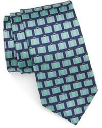 Corbata de seda estampada azul marino de Ted Baker