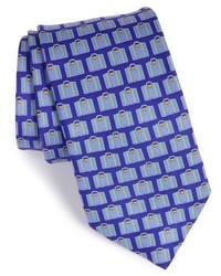 Corbata de seda estampada en violeta de Ted Baker