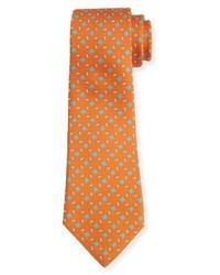 Corbata de seda estampada naranja de Kiton