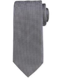 Corbata de seda estampada plateada de Ermenegildo Zegna
