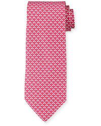 Corbata de seda estampada rosa de Salvatore Ferragamo