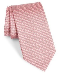 Corbata de seda estampada rosada de Salvatore Ferragamo
