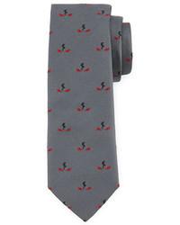 Corbata de seda gris de Fendi