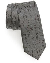 Corbata de seda gris de Lanvin