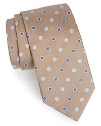 Corbata de seda marrón claro de David Donahue