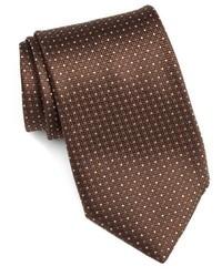 Corbata de seda marrón de Canali