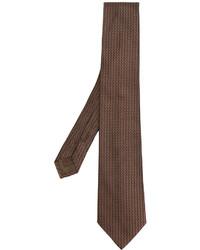 Corbata de seda marrón de Church's