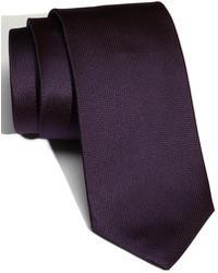 Corbata de seda morado oscuro de BOSS