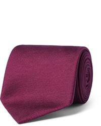 Corbata de seda morado oscuro de Charvet