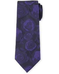 Corbata de seda morado oscuro de Davidoff