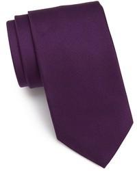 Corbata de seda morado oscuro de Eton