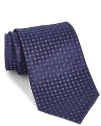 Corbata de seda morado oscuro de John Varvatos