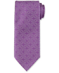 Corbata de seda morado de Charvet