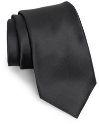 Corbata de seda negra