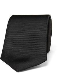 Corbata de seda negra de Turnbull & Asser