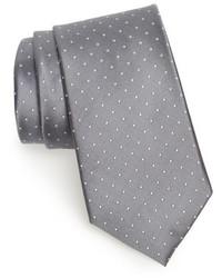 Corbata de seda plateada de Nordstrom