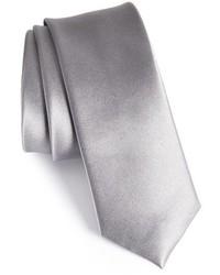 Corbata de seda plateada de The Tie Bar