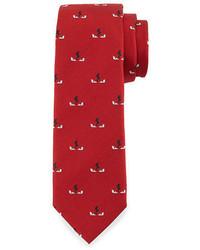 Corbata de seda roja de Fendi